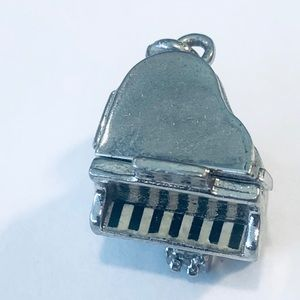 Jewelry - Vintage Sterling Silver Piano Charm, Pendant